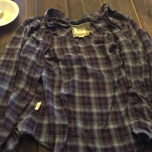 Chelsea and violet plaid shirt